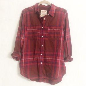 Mossimo boyfriend fit flannel button down shirt M
